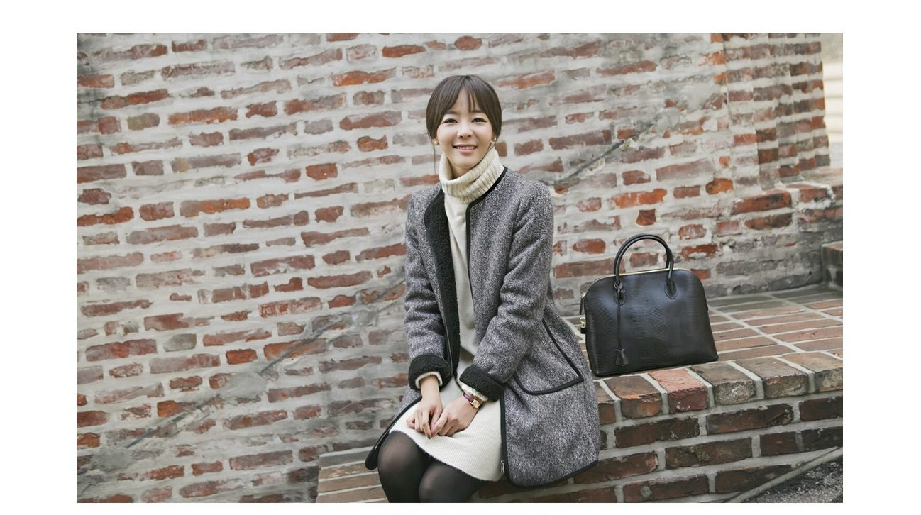 dca2065fe ... Herringbone Wool Coat - Korean Fashion Shop Malaysia