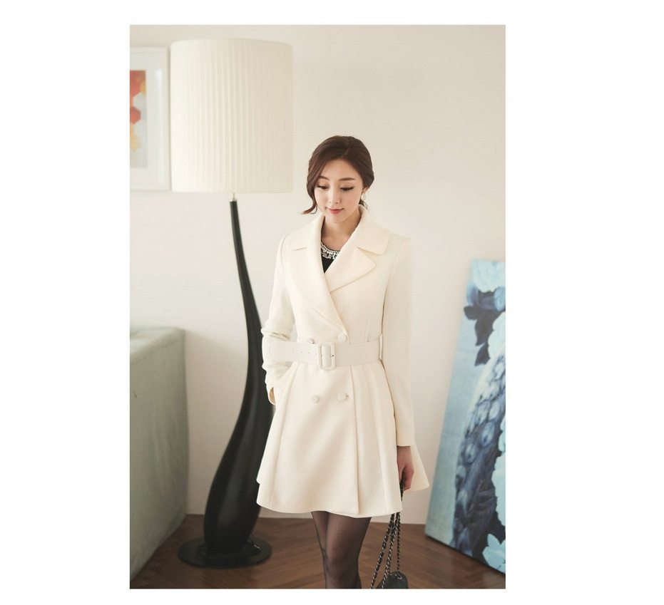 Lavender Flare Coat Korean Lady Fashion Shop Malaysia