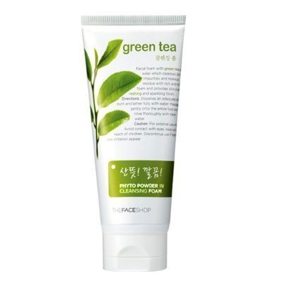The Face Shop Green Tea Phyto Powder in Cleansing Foam ...