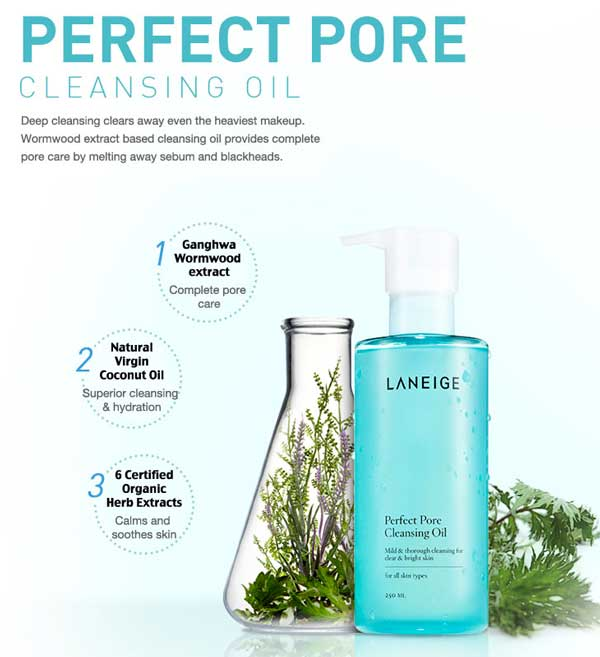 cosmetic skincare beautycare makeup Laneige Malaysia Perfect Pore Cleansing Oil