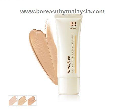 Innisfree Air Skin Fit BB Cream SPF 35 PA++ 40ml malaysia MakeUp beautycare cosmetic makeup