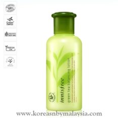 Innisfree Green Tea Balancing Lotion 160ml malaysia skincare beautycare cosmetic makeup