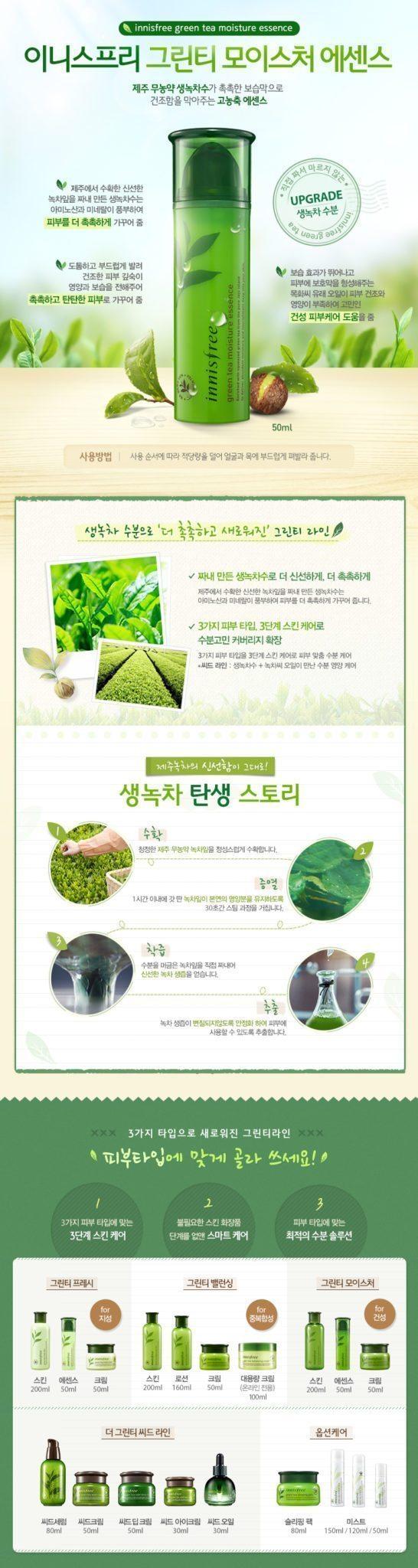 Innisfree Green Tea Moisture Essence price malaysia singapore thailand vietnam philippine indonesia1
