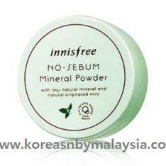 Innisfree No Sebum Mineral Powder 5g malaysia MakeUp beautycare cosmetic makeup