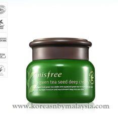 Innisfree The Green Tea Seed Deep Cream 50ml malaysia skincare beautycare cosmetic makeup