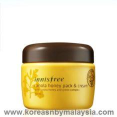Innisfree Canola Honey Pack and Cream 100ml malaysia skincare beautycare cosmetic makeup online shop