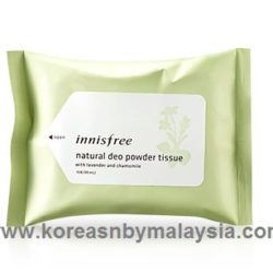 Innisfree Natural Deo Powder Tissue 15pcs 90ml malaysia cleansing skincare beautycare cosmetic makeup online shop