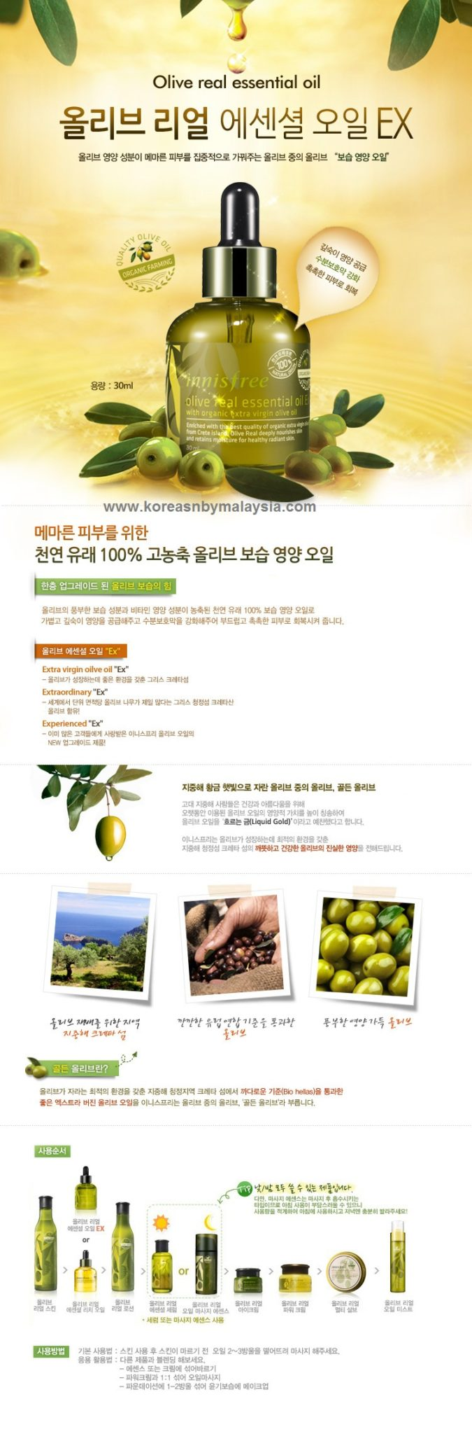 Innisfree Olive Real Essential Oil EX