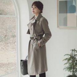Basic Trench Coat Korean fasion 2015 online shop malaysia singapore brunei indonesia china