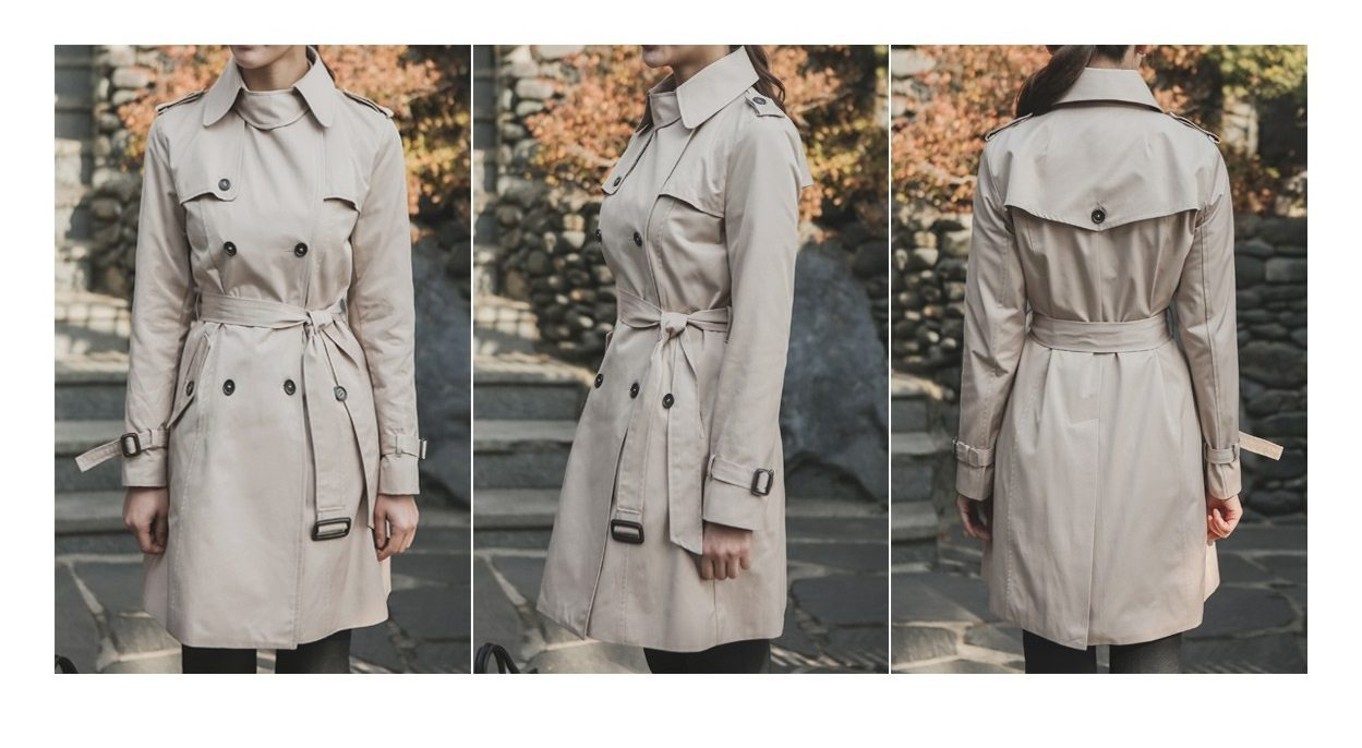 Combing Trench Coat Korean Jacket fasion shop malaysia germany france hongkong11