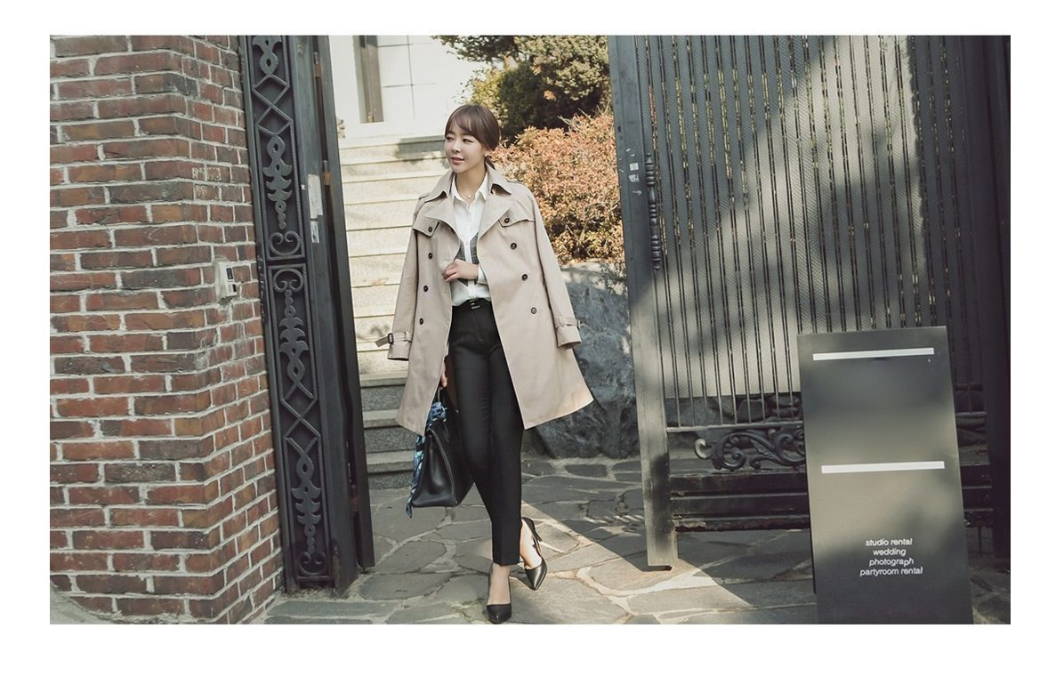 Combing Trench Coat Korean Jacket fasion shop malaysia germany france hongkong3