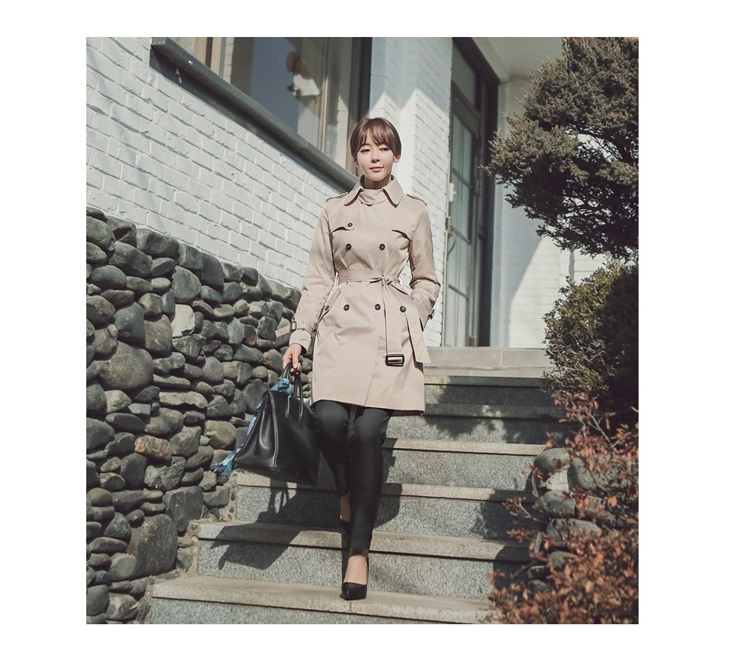 Combing Trench Coat Korean Jacket fasion shop malaysia germany france hongkong7
