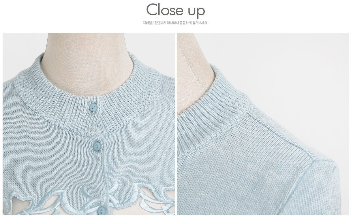 Embroidery Cardigan Korea fashion shop online malaysia singapore brunei10