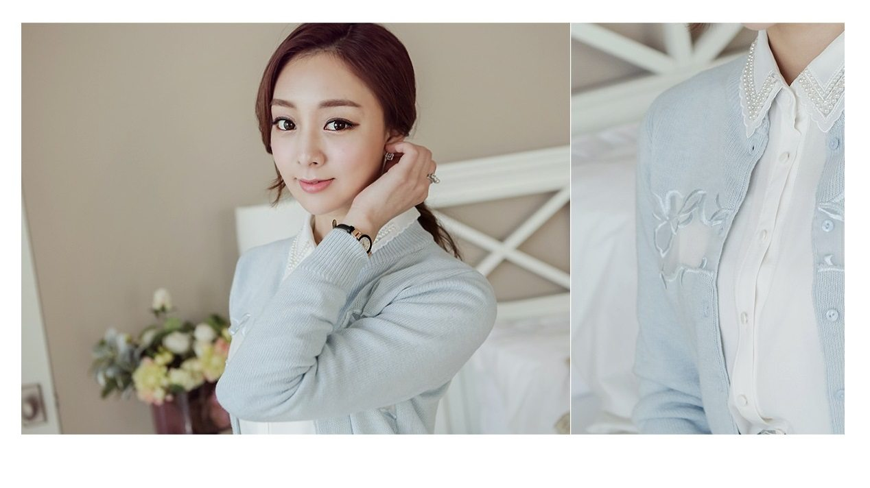 Embroidery Cardigan Korea fashion shop online malaysia singapore brunei4