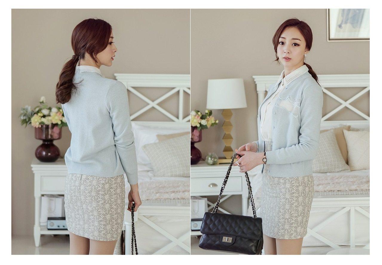 Embroidery Cardigan Korea fashion shop online malaysia singapore brunei5