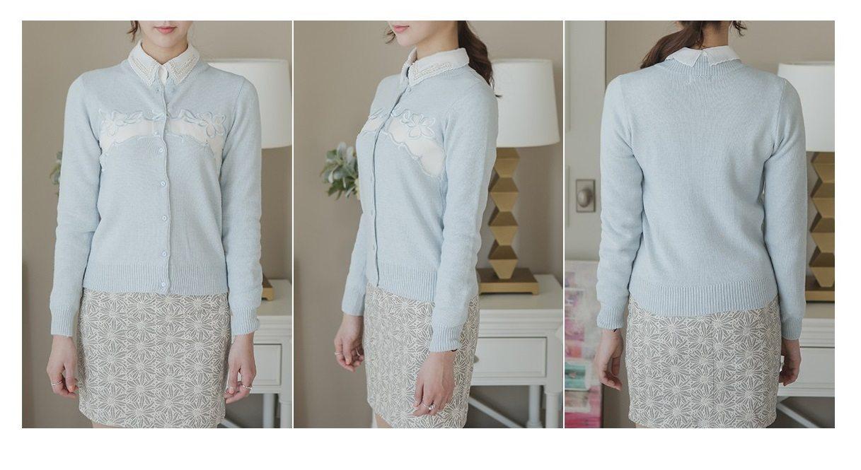 Embroidery Cardigan Korea fashion shop online malaysia singapore brunei7