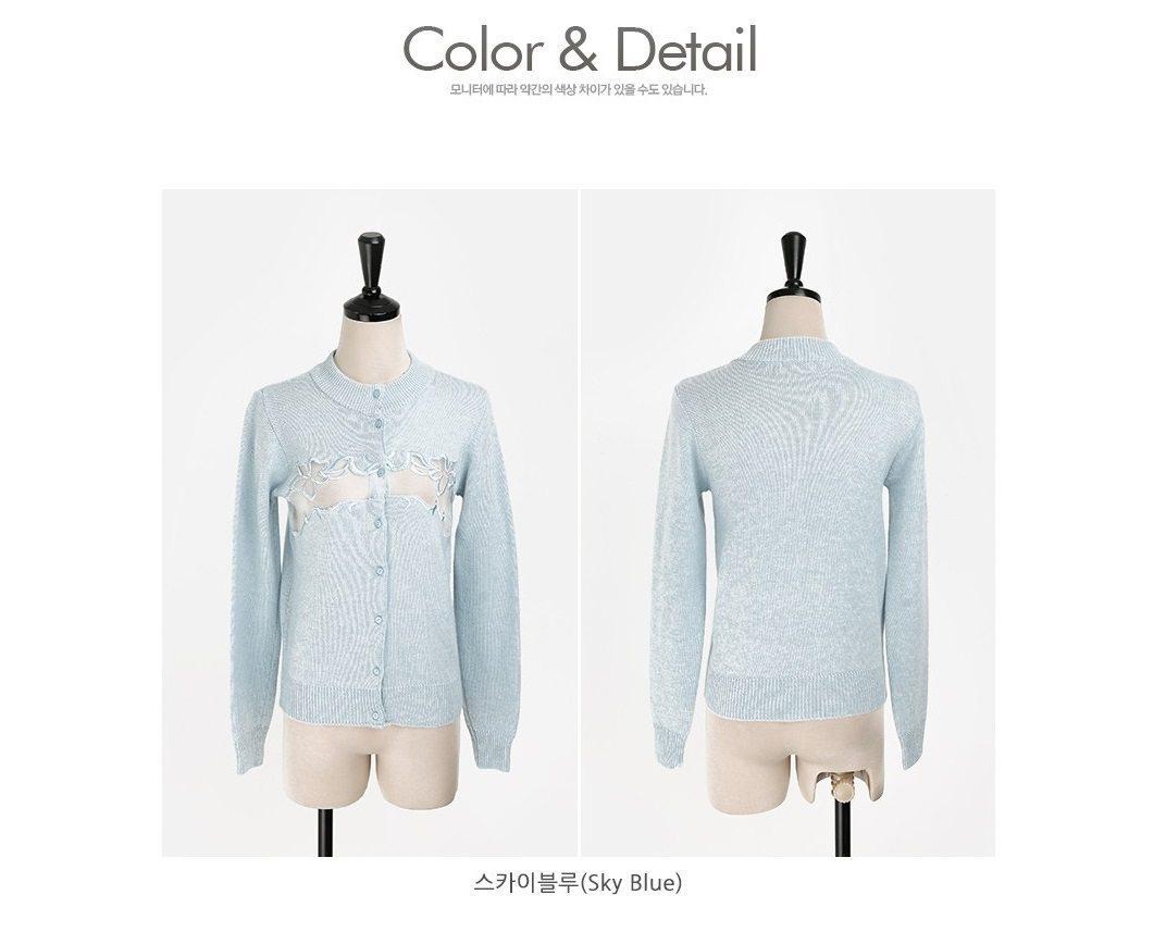 Embroidery Cardigan Korea fashion shop online malaysia singapore brunei8