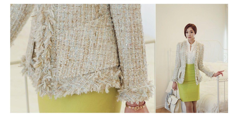 Fairy Tweed Jacket Korean Fashion Clothes Shop Malaysia