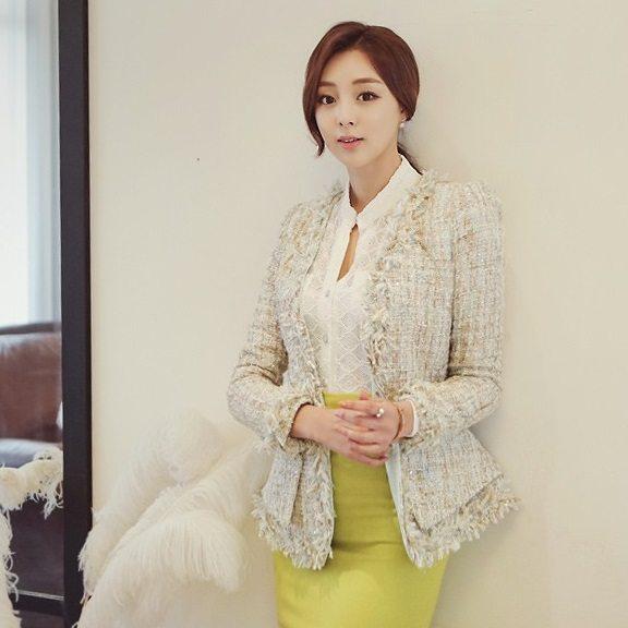 Fairy Tweed Jacket Korean fasion 2015 online shop malaysia singapore brunei indonesia china