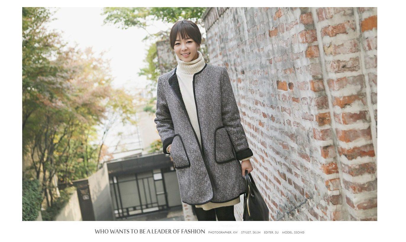 Herringbone Wool Coat Korean fasion 2014 online shop malaysia singapore brunei indonesia china1