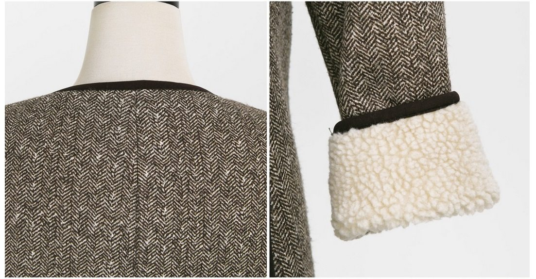 Herringbone Wool Coat Korean fasion 2014 online shop malaysia singapore brunei indonesia china12