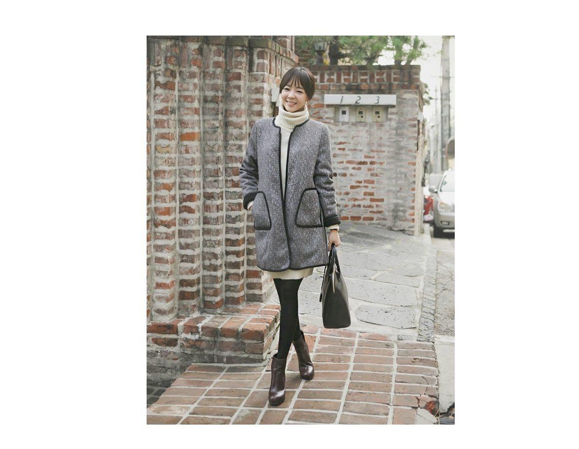 Herringbone Wool Coat Korean fasion 2014 online shop malaysia singapore brunei indonesia china4