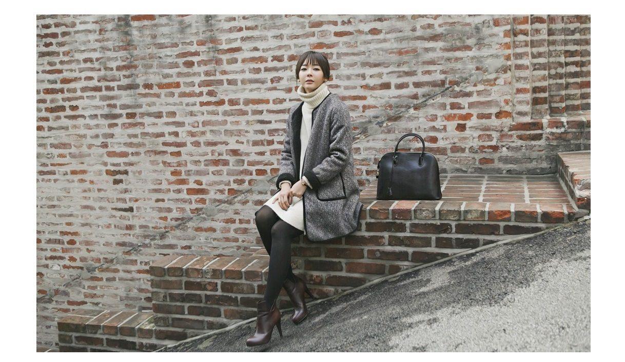 Herringbone Wool Coat Korean fasion 2014 online shop malaysia singapore brunei indonesia china6
