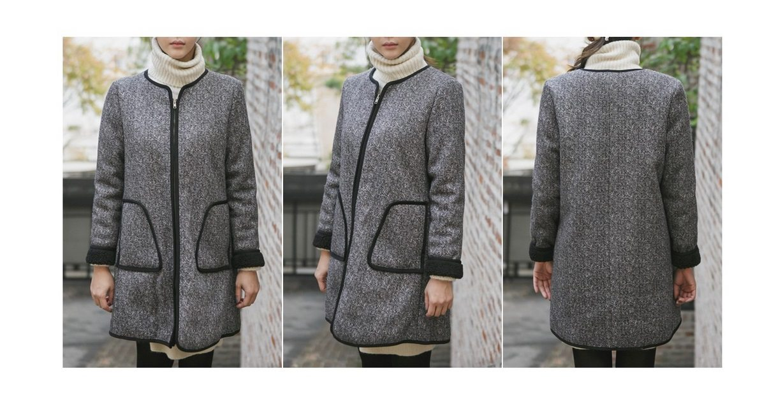Herringbone Wool Coat Korean fasion 2014 online shop malaysia singapore brunei indonesia china7