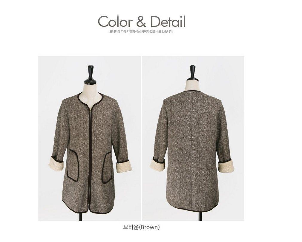 Herringbone Wool Coat Korean fasion 2014 online shop malaysia singapore brunei indonesia china8