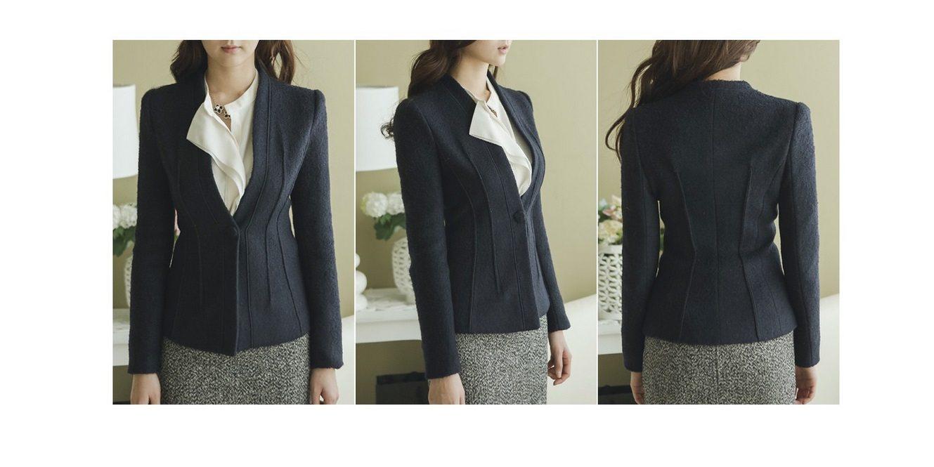 Incision Line Wool Jacket Korean fasion 2014 online shop malaysia singapore brunei indonesia10