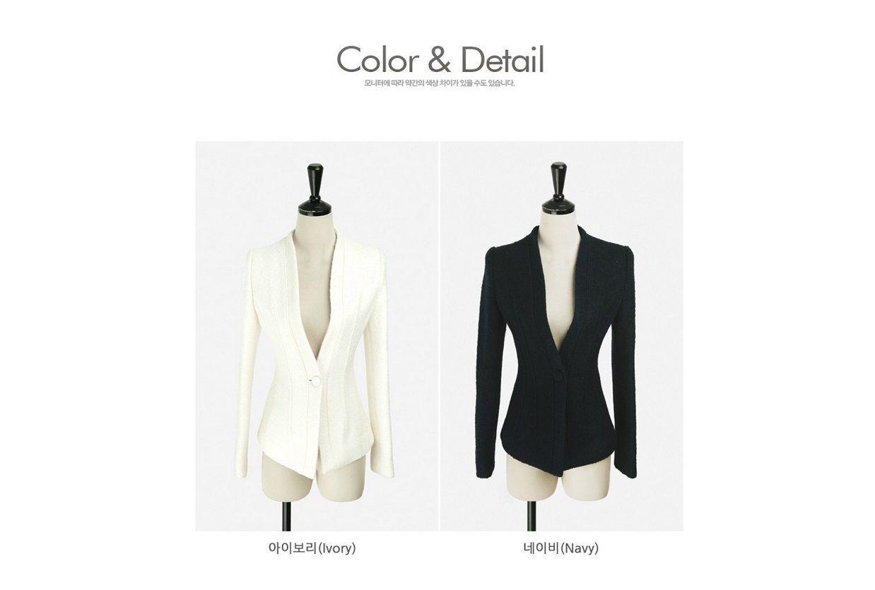 Incision Line Wool Jacket Korean fasion 2014 online shop malaysia singapore brunei indonesia11