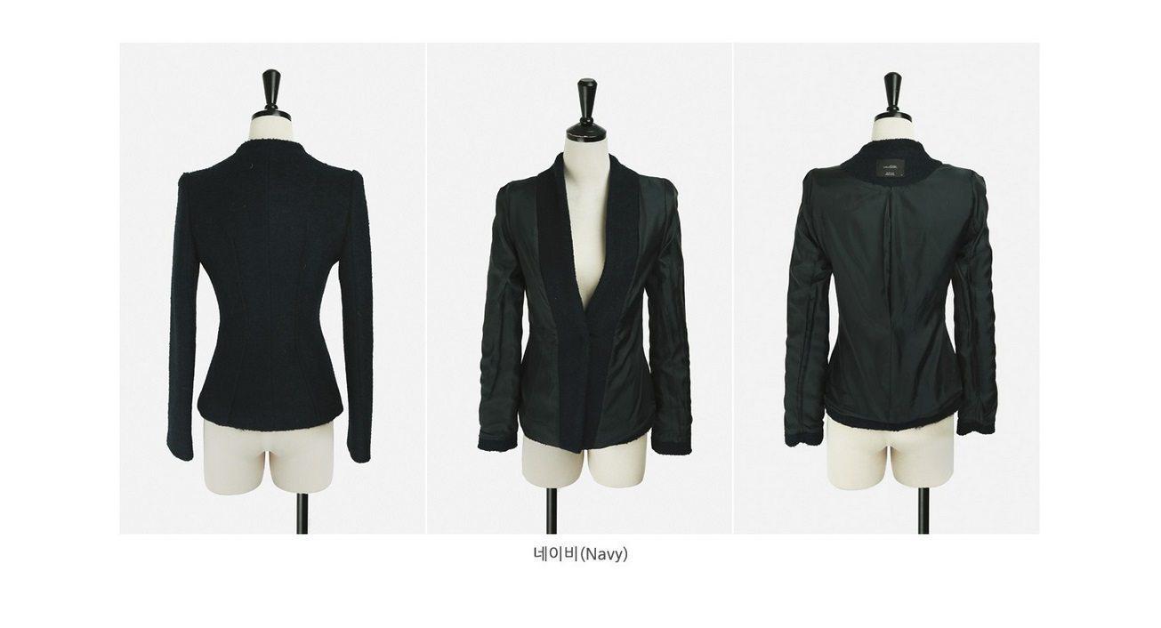 Incision Line Wool Jacket Korean fasion 2014 online shop malaysia singapore brunei indonesia12