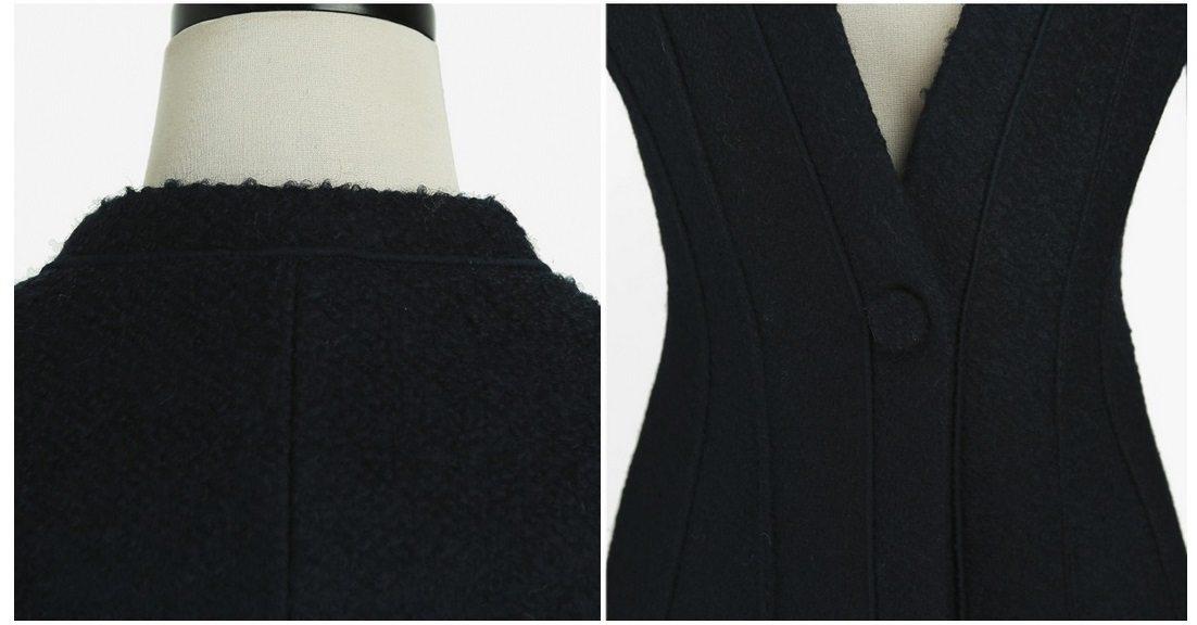 Incision Line Wool Jacket Korean fasion 2014 online shop malaysia singapore brunei indonesia14