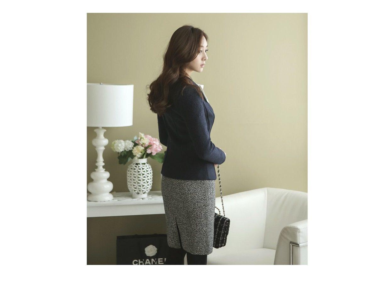 Incision Line Wool Jacket Korean fasion 2014 online shop malaysia singapore brunei indonesia2
