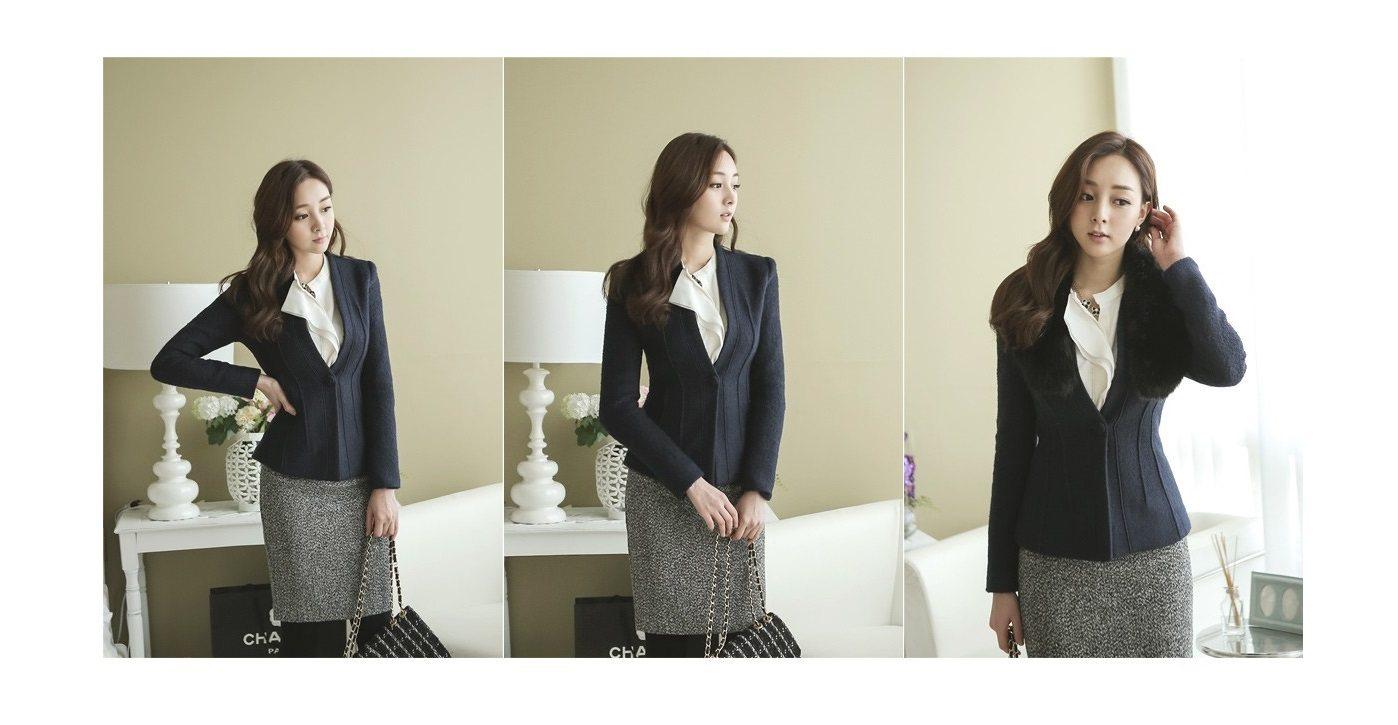 Incision Line Wool Jacket Korean fasion 2014 online shop malaysia singapore brunei indonesia3