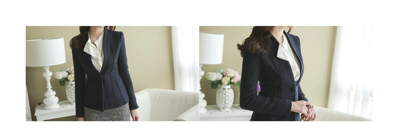 Incision Line Wool Jacket Korean fasion 2014 online shop malaysia singapore brunei indonesia5