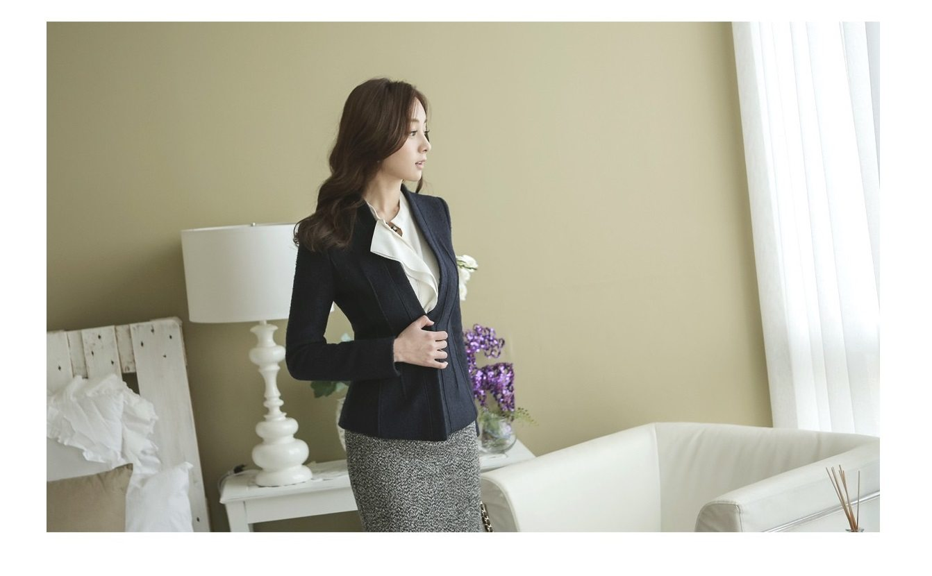 Incision Line Wool Jacket Korean fasion 2014 online shop malaysia singapore brunei indonesia6
