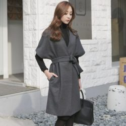 Kale Stingray Belt Coat Korean fasion 2014 online shop malaysia singapore brunei indonesia china