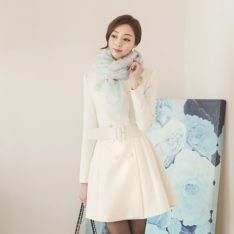 Lavender Flare Coat Korean fasion online shop malaysia singapore brunei indonesia