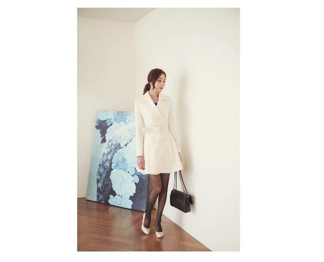 Lavender Flare Coat Korean Lady Fashion Shop Malaysia