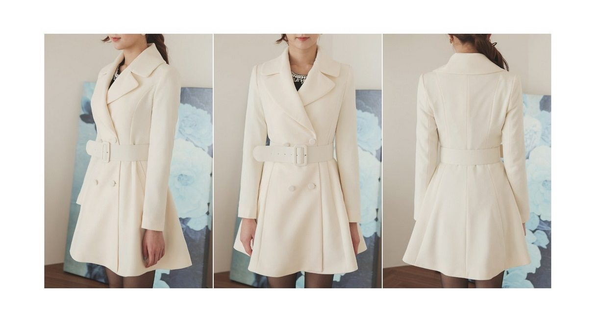 Lavender Flare Coat Korean fasion online shop malaysia singapore brunei indonesia7