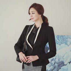 Luxury Detachable Ruffle Jacket Korean fasion online shop malaysia singapore brunei indonesia