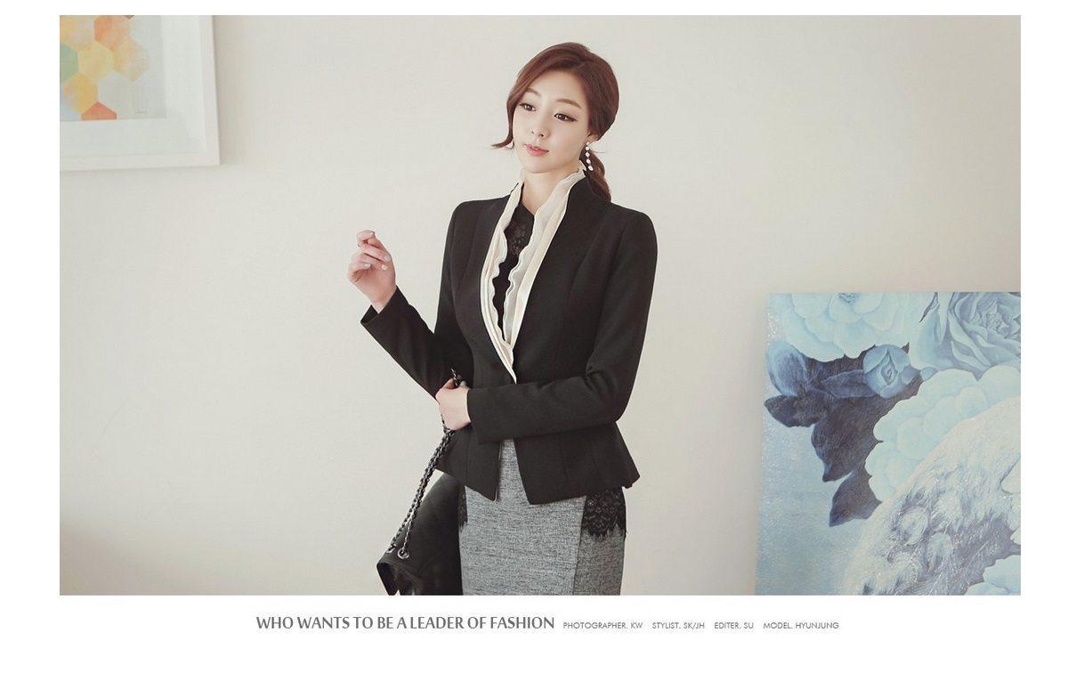 Luxury Detachable Ruffle Jacket Korean Style Fashion Jacket