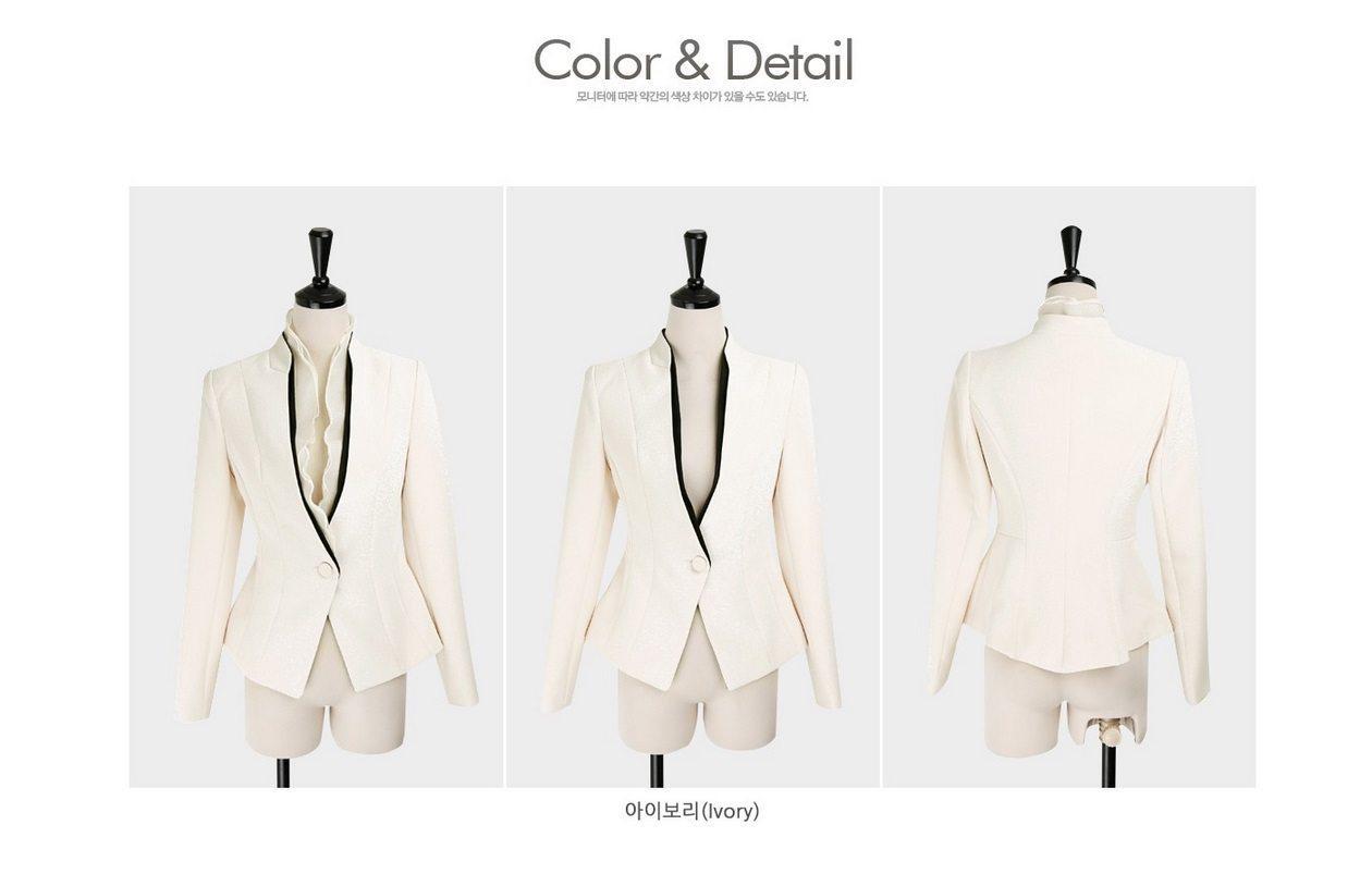 Luxury Detachable Ruffle Jacket Korean fasion online shop malaysia singapore brunei indonesia13
