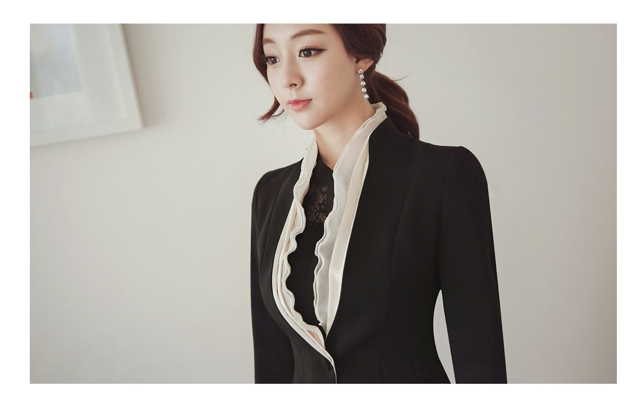 Luxury Detachable Ruffle Jacket Korean fasion online shop malaysia singapore brunei indonesia4