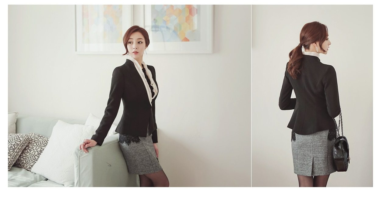 Luxury Detachable Ruffle Jacket Korean fasion online shop malaysia singapore brunei indonesia5