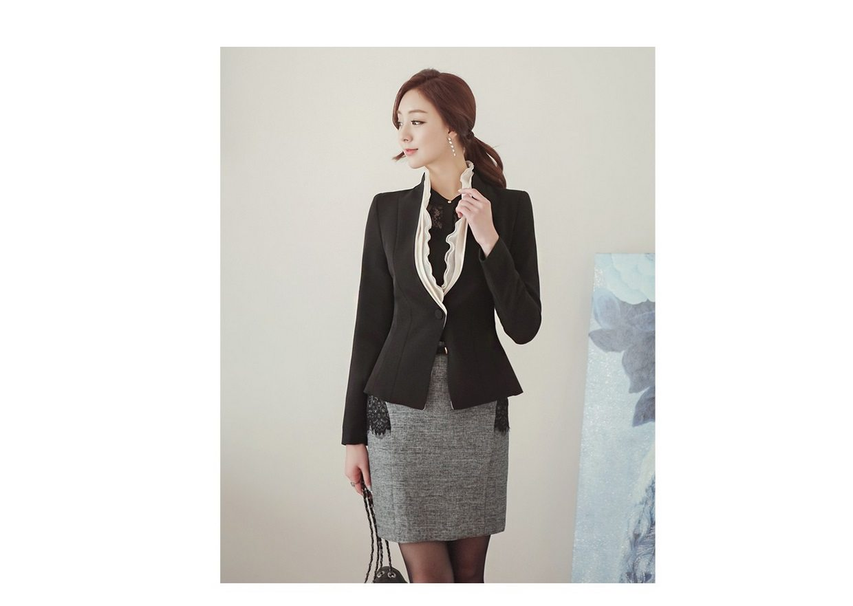 Luxury Detachable Ruffle Jacket Korean Style Fashion Jacket