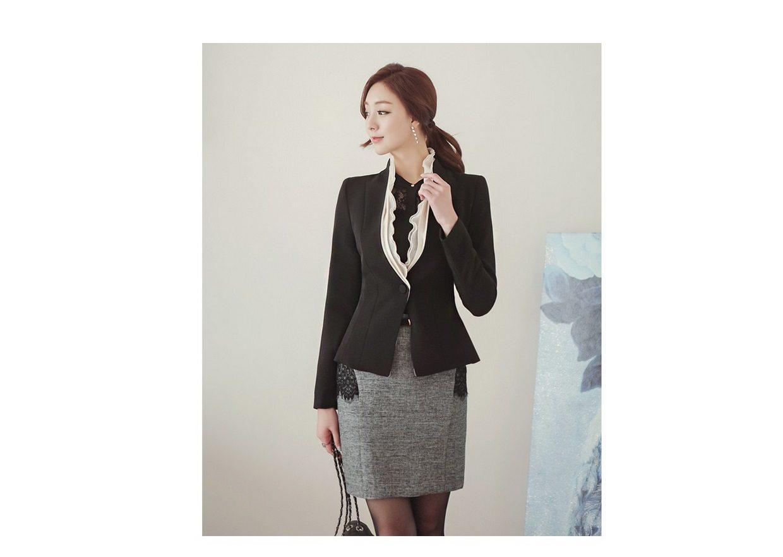 Luxury Detachable Ruffle Jacket Korean fasion online shop malaysia singapore brunei indonesia9