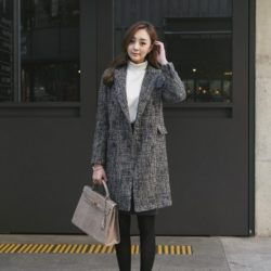 Magic Wool Tweed Coat Korean fasion 2014 online shop malaysia singapore brunei indonesia china