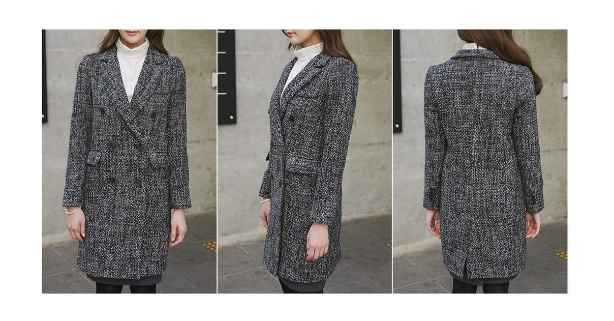 Magic Wool Tweed Coat Korean fasion 2014 online shop malaysia singapore brunei indonesia china7